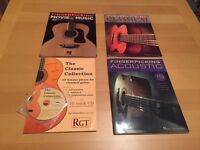 4 acoustic guitar tablature books Classical and movie themes