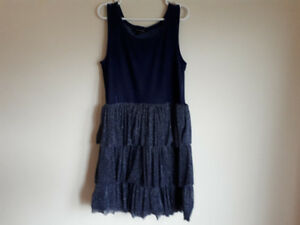 Sparkling Blue Dress with Jacket Size 10