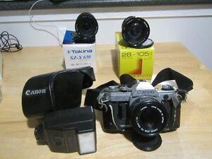 Canon AE-1 and accessories