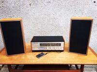 Original 1960s Alba Radio Stereo Amplifier and speakers In Teak And Aluminium