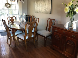 Cherry dining room set.