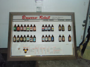 Vintage Beer Bottle Display Sign