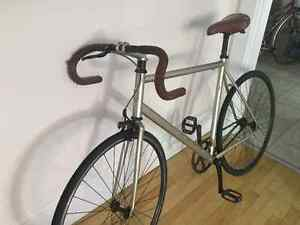 Single Speed / Fixie - Bike Bicycle - Opus  (Grey/leather/black)