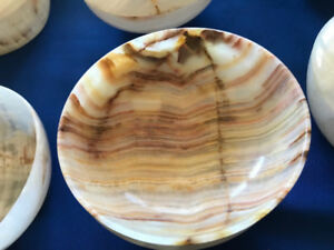 ONYX dinnerware, hand-crafted, polished, translucent