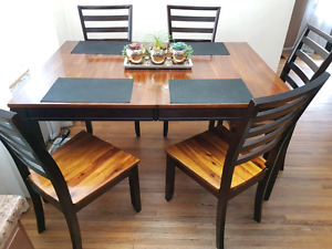 Wood Dining Table and Buffet