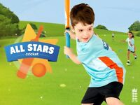 All Stars Cricket - Activity for 5 to 8 yr olds Sign up TODAY!