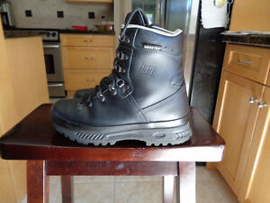 HANWAGS BOOTS AND 2 PAIRS HIKING BOOTS
