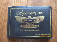 1986 Honda Aspencade SE-i Owner's manual