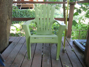 3 Garden Chairs and chair pads - prices listed below