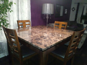 Contemporary Counter Height Dining Table & Chairs - only $250!!!
