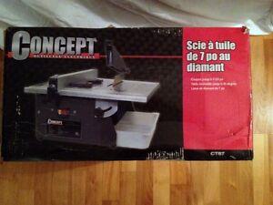 """7"""" Tile Cutting Saw - Scie à tuile de 7""""  au diamant"""