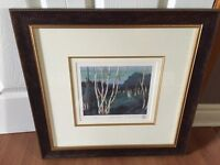Silver birches print with frame