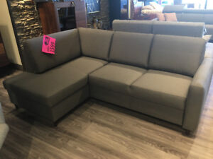 """JOY"" CONDO SIZE SECTIONAL - BED & STORAGE - MADE IN EUROPE"