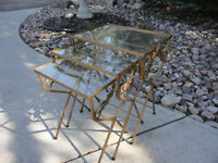 Iron Nesting Table Set Of Three...Great Condition