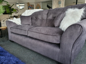 NEW Louis Charcoal Grey 3 Seater Sofa DELIVERY AVAILABLE