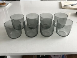 Scandinavian Smoke Grey Drinking Glasses - Set of 8 from DWR