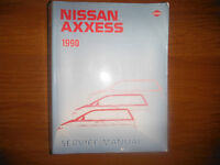 Nissan Axxess 1990 Service Manual M11 Series including AWD