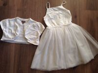Girls sequin front dress and shrug 3-4yrs