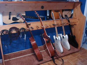 AWESOME GUITAR STAND - HAND MADE OF SOLID PINE - GREAT DEAL!