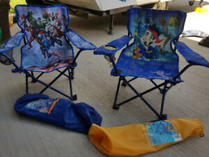 Children's foldable camp chairs