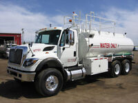 Water Trucks for Dry Lease/Rent