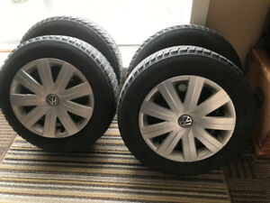 "15"" VW rims and Bridgestone tires for sale ...$145"