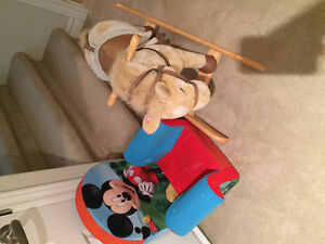 Horse and Mickey Mouse chair
