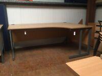 1800 dark oak office desk.