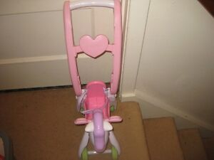 little horse doll stroller