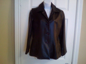 Leather jacket, size 10