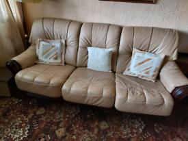 FREE 3+1+1 Italian leather suite