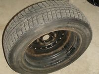 4 Winter tires with rims for Honda Civic, 185/65R 15