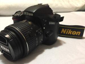 """1975 Shutter Count Like New """"Nikon D3300 DSLR"""" & 18-55 VR II Len"""
