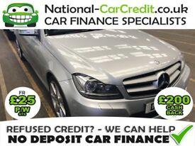 Mercedes C Class 2.1 C 220 CDI BLUEEFFICIENCY AMG Good / Bad Credit Car Finance (silver) 2014