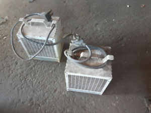 Two 220 volt shop heaters