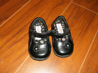 Childrens Black Leather Shoes