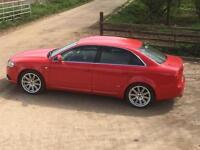 Audi A4 1.8T Quattro S Line Manual 2005 Brilliant Red 108000 miles FSH