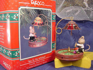 Enesco Casino Christmas Series 7 Mice / Mouse Ornaments London Ontario image 4