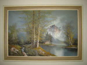 Framed original oil painting signed by artist London Ontario image 2