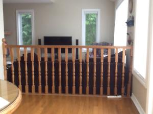 Solid oak railing