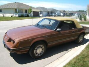 very clean 84 Mustang Convertible 5.0