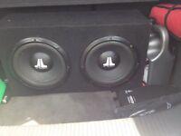 "2x jl audio sub 10"" and 1600w amp"