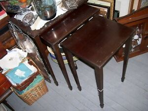 Antique Wood Nesting Tables