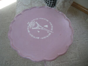 Pie Cut Antique accent table finished in Mauve