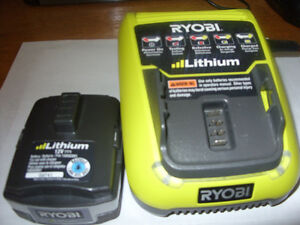 New Ryobi 12 volt lithium battery and charge