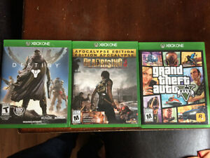 XBOX ONE - GTA5, Dead Rising 3, Destiny