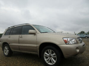 2006 TOYOTA HIGHLANDER HYBRID LIMITED-LEATHER-SUNROOF-7 SEATER