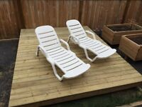 2 Lounge Tanning Lawn PoolChairs