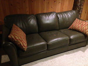 Large Leather 3 Seat Palliser Brand Couch