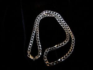 "BEAUTIFUL 22"" LONG ""925"" SILVER ITALY CHAIN.WEIGHS 39g"